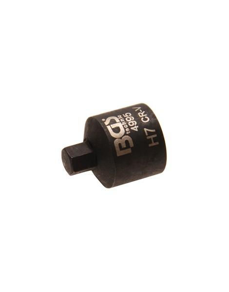 Bremssattel-Einsatz | Innensechskant | extra kurz | 7 mm