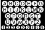 Einschlag-Buchstaben & Zahlen